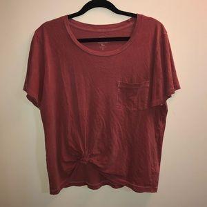 J.Crew Pink Knot T-shirt